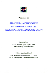 Structural optimization of aerospace vehicles with emphasis on high-reliability