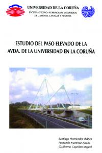 Estudio del paso elevado de la Avenida de la Universidad en La Coruña