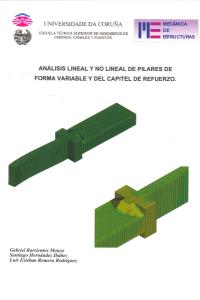 Análisis lineal y no lineal de pilares de forma variable y del capitel de refuerzo