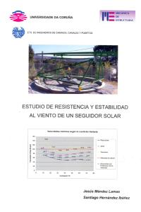 Estudio de resistencia y estabilidad al viento de un seguidor solar