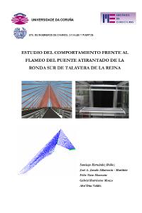 Estudio del comportamiento frente al flameo del puente atirantado de la ronda sur de Talavera de la Reina