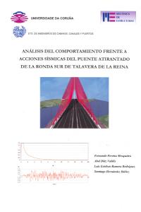 Análisis del comportamiento frente a acciones sísmicas del puento atirantado de la Ronda Sur de Talavera de la Reina