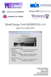 MODESTO. Model Design Tool v.1.0. Manuel de usuario.