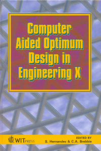 Computer aided optimum design in engineering X