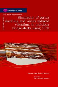 Simulation of vortex shedding and vortex induced vibrations in multibox bridge decks using CFD