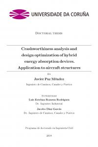 Crashworthiness analysis and design optimization of hybrid energy absorption devices. Application to aircraft structures