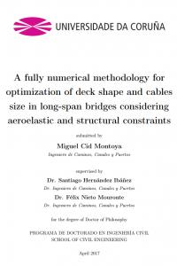 A fully numerical methodology for optimization of deck shape and cables size in long-span bridges considering aeroelastic and structural constraints.