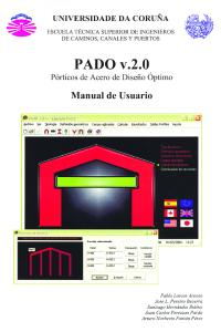PADO v.2.0 (Pórticos de Acero de Diseño Óptimo). Manual de Usuario