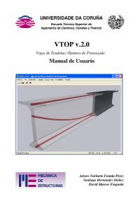 VTOP v.2.0 (Vigas de Tendones Óptimos de Pretensado). Manual de Usuario