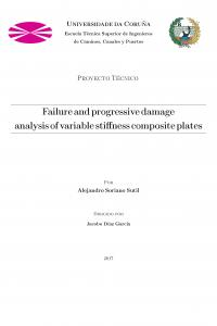 Failure and progressive damage analysis of variable stiffness composite plates