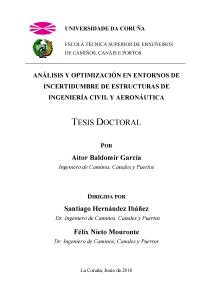 Análisis y optimización en entornos de incertidumbre de estructuras de Ingeniería Civil y Aeronáutica