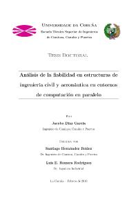 Análisis de la fiabilidad en estructuras de ingeniería civil y aeronáutica en entornos de computación en paralelo
